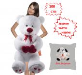 özgüner 100 Cm Bobo Beyaz Seni Seviyorum Köpek Yastıklı Hediyeli