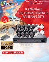 En Kaliteli 8 Kameralı Dış Mekan Güvenlik Kamerası Seti(Hd 1080p)