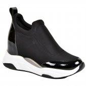 Kuum K4005 Siyah Rugan Kadın Ayakkabı