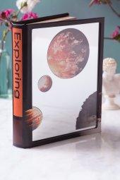 Gezegen Kitap Şeklinde Aynalı Kutu