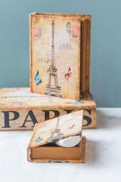 Paris Kitap Şeklinde 3lü Kutu