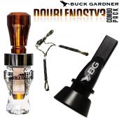 Buck Gardner Double Nasty 3 Ördek Düdüğü Seti Clear Bourbon
