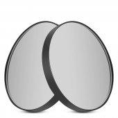 Arka Çift Vantuzlu 5 Kat Büyüteçli Makyaj Aynası 10 Cm Çap