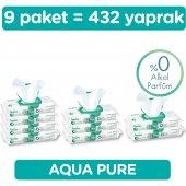 Prima Islak Havlu Mendil Aqua Pure 9' Lu Fırsat Paketi 432 Yaprak