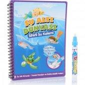 Sihirli Boyama Kitabı Özel Kalemi Water Magic Su İle Boyama Sualt