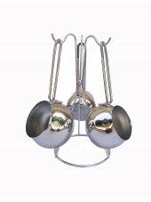 Armina Globe Model Çelik Cezve Seti