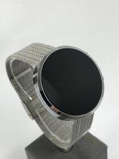 Yeni Model Gümüş Renk Led Watch Dijital Çelik Kasa Unisex Saat