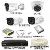 Cenova 4 Kameralı Full Kamera Sistemi Gece Görüşlü Herşey Dahil