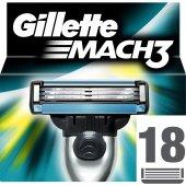Gillette Mach3 18' Li Yedek Tıraş Bıçağı Karton Paket