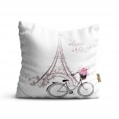 Bisiklet Desenli Dijital Baskılı Dekoratif...