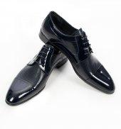 Deepsea Lacivert Önü Parçalı Rugan Deri Bağcıklı Erkek Klasik Ayakkabı 1907975