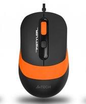 A4 Tech Fm10 Kablolu Optık Mouse Sıyah Turuncu