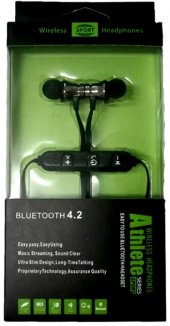 Athlete Bluetooth 4.2 Kablosuz Manyetik Kulaklık