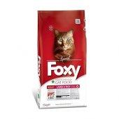 Foxy Kuzu Etli Ve Pirinçli Yetişkin Kedi Maması 15 Kg