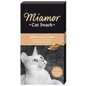 Miamor Cat Snack Krem Ödül15g*6 Leberwurst Crem Ciger Krem Ödül