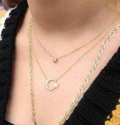 925 Ayar Gümüş Mini Yıldız,ay Yıldız Kolye Ve İthal Zincir Kombin