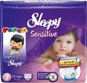 Sleepy Sensitive Bebek Bezi 7 Numara Xx Large Ped Hediyeli 16 Ade