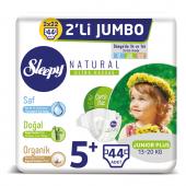 Sleepy Natural Bebek Bezi 5+beden Junior Plus 2li Jumbo 44 Adet