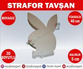 Strafor Sepeti Strafor Tavşan 40 Cm Boyasız, Strafor Dekor, Strafor Parti, Strafor Doğum Günü