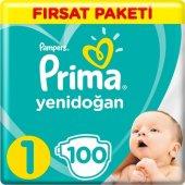 Prima Bebek Bezi 1 Beden Yenidoğan Fırsat Paketi 2 5 Kg 100 Adet