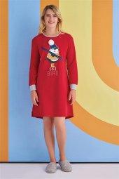Roly Poly Kadın Kırmızı Gecelik Elbise 1363