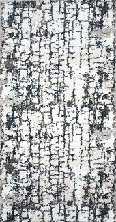 Gri Beyaz Modern İnce Oturma Odası Halısı Hs9503i