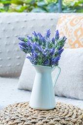 Mor Lavandula Yapay Akdeniz Çiçek