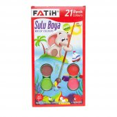 Fatih 21 Renk Sulu Boya 30mm