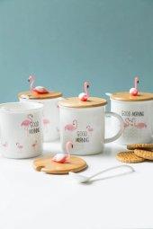Flamingolu Dekoratif Kupa Bardağı (1)
