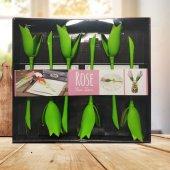 Rose Peçete Tutucu Özel Katlayıcı Peçete Tutucu 6lı Set