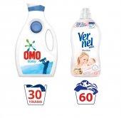 Omo Baby Bebek Sıvı Çamaşır Deterjanı Vernel Sensitive Yumuşatıcı
