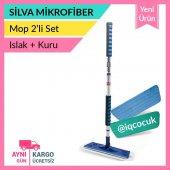 Silva Mikrofiber Sopalı Mop Set (Kuru Bez + Islak Bez)