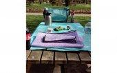 Piknik Örtüsü Kamp Tipi Çantalı Mavi