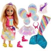 Barbie Dreamtopia Chelsea Ve Kıyafetler Sarışın Fj...