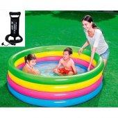 Bestway Büyük Boy 4 Halkalı Şişme Çocuk Havuzu 157x46 Cm + Pompa
