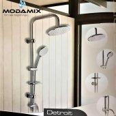 Modamix Detroit Krom Robot Duş Seti, Tepe Yağmurla...