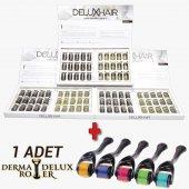 Delux Hair Redensyl (R) Ve Keratin İçeren Bitkisel Saç Çıkarma Bakım Serumu 3 Aylık Set + 1 Adet Titanyum Derma Roller System 540 İğne 0,5 Mm 1. Kalite Masaj Aleti Rohs Ce Kalite Belgeli Dermoroller 1 Adet