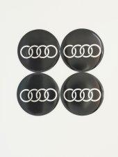 Audi Siyah 54mm Jant Sticker