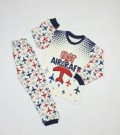 Erkek Bebek Fast Yazılı Modelli Pijama Takımı 4 6 Yaş Lacivert C66748 2