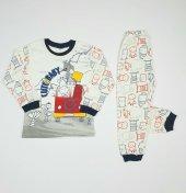 Erkek Bebek Cute Baby Yazılı Pijama Takımı 4 6 Yaş Lacivert C66748 3