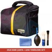 Nikon Dslr Makineler Nikon Set Çanta + Temizleme S...
