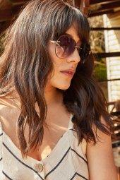Kadın Kahverengi Çerçevesiz Opak Güneş Gözlüğü