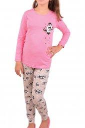 Kız Çocuk Pijama Takımı Uzun Kollu