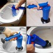 Air Blaster Hava Basınçlı Tıkalı Lavabo Tuvalet Gider Açıcı Pompa