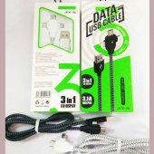 Ukscase Jkx 16 Usb 3in1 Şarj Ve Data Transfer Kablosu