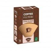 Coffee Filters Filtre Kahve Kağıdı (4) Kahverengi 100 Lü Paket