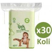 Ipek Organik Pamuk Bebek Temizleme Pamuğu 60lı X 30 Adet (Koli)
